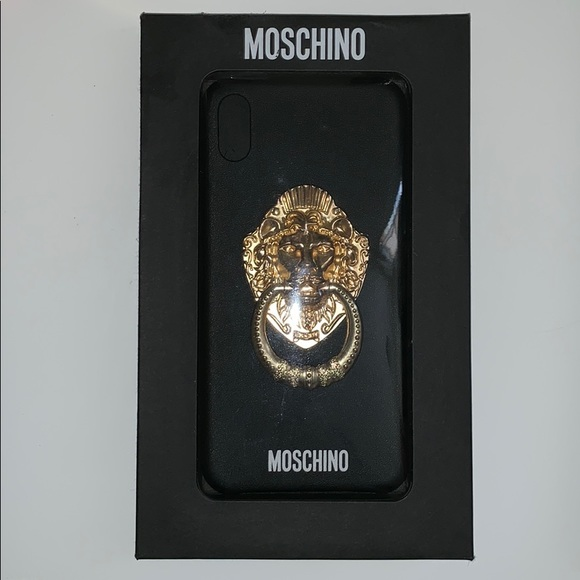 Authentic Moschino Lion Handle iPhone XS Max Case